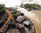 A Cachoeira de Santo Antônio será submersa pelo lago da usina de mesmo nome, no Rio Madeira