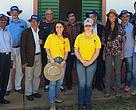 Comitiva do Nepal acompanhada de técnicos e parceiros do programa Produtor de Água na bacia do Pipiripau (DF).