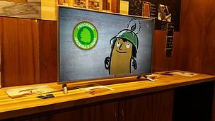 Trecho da animação lançada pelo WWF-Brasil sobre o uso responsável de madeira na construção