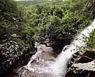 Cachoeira no igarapé Garrancho, na unidade de conservação Parque Nacional da Serra do Pardo (PA) - Amazônia brasileira.