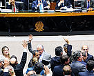 Deputados comemoram aprovação de texto que amplia margem para desmatamento no país