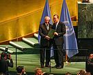 Presidente Michel Temer deposita ratificação do Acordo de Paris em cerimônia na ONU