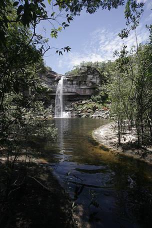 A Cachoeira da Pedra, situada no noroeste do Mato Grosso, é uma das inúmeras belezas naturais protegidas pelo Mosaico da Amazônia Meridional