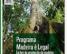 """Capa da publicação """"Programa Madeira é Legal - Lições da promoção da madeira legal e certificada junto ao setor da construção civil"""""""
