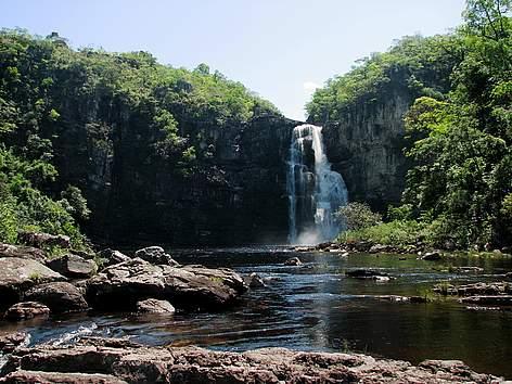 Cachoeira no Parque Nacional dos Veadeiros. / ©: Aldem Bourscheit/WWF-Brasil