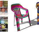 Cadeiras e outros utensílios estão entre as ideias de produtos para reaproveitar o resíduo plástico.