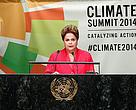 A presidente Dilma Rousseff discursou em Nova York durante a Cúpula do Clima