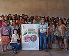Equipe do GPP com as mulheres da Associação Produtiva da Poranga