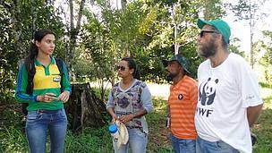 No projeto Reca, em Porto Velho (RO), os participantes ouviram sobre a importância da organização comunitária e as oportunidades existentes no mercado de produtos orgânicos