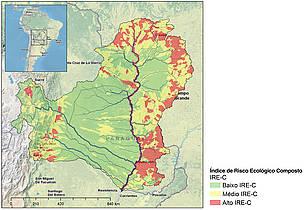 Índice de Risco Ecológico Composto para a Bacia do rio Paraguai