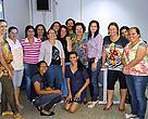 Equipe de formação do programa Escolas Sustentáveis e Com-Vida durante encontro na UFMT