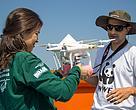 Projeto piloto foi realizado no lago Tefé durante dois dias e permitiu testar diferentes altitudes e velocidades de voo com o drone