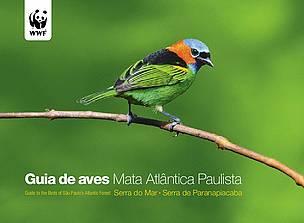 Capa do Guia de aves Mata Atlântica Paulista.