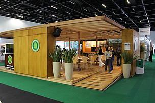 Estande utilizado pelo WWF-Brasil e Programa Madeira é Legal na feira #ExpoGBC