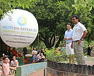 Hundreds of people took part in the World Rivers Day celebrations held by WWF-Brasil in Cuiabá on September 24.