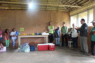 A doação dos equipamentos contou com um evento simbólico, que contou com a presença de comunitários, representantes da Rede WWF e servidores públicos do Governo Federal e do Estado do Amazonas