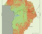 Mapa da Bacia do Alto Paraguai com dados de uso do solo referentes ao ano de 2016