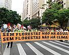 Participantes da marcha protestaram em defesa das florestas