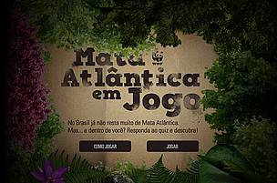 Tela de entrada do quiz Mata Atlntica em Jogo