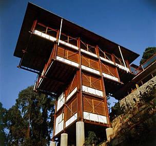 A Residência Olga, inaugurada em 1991, é uma das obras brasileiras feitas em madeira mais famosas do País