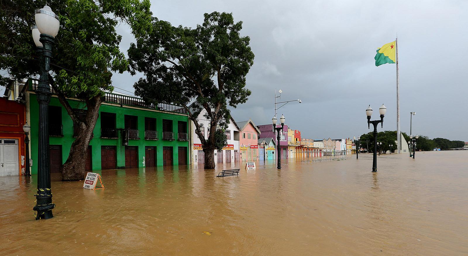 Rio Branco registra a maior cheia dos últimos 132 anos