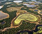 São consideradas áreas úmidas os pântanos, charcos, turfas ou locais de acúmulo de água, permanente ou temporário