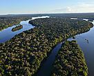 Vista aérea do Parque Nacional do Juruena