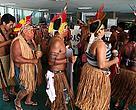 Lideranças indígenas protestaram no Congresso contra a PEC 215