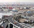 Rodovias que atravessam a cidade de Yokohama, no Japão.