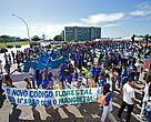 Manifestation against the forest law changes in Brasília, 07/03/2012