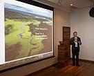 Stuart Orr,  líder global do tema Water Stewardship da rede WWF, faz apresentação sobre uso sustentável da água