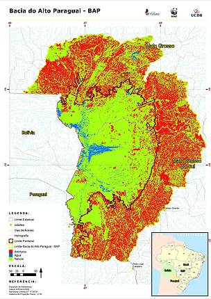 WWF-Brazil study reveals that just 45% of the Alto Paraguay River ...
