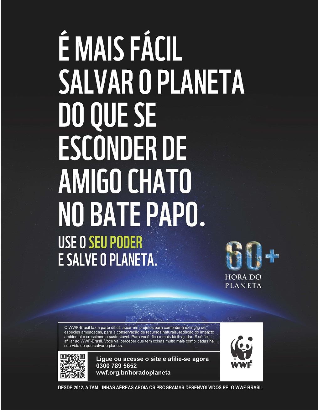 Muito Parceria entre WWF-Brasil e TAM ajuda a divulgar a mensagem da  XL86