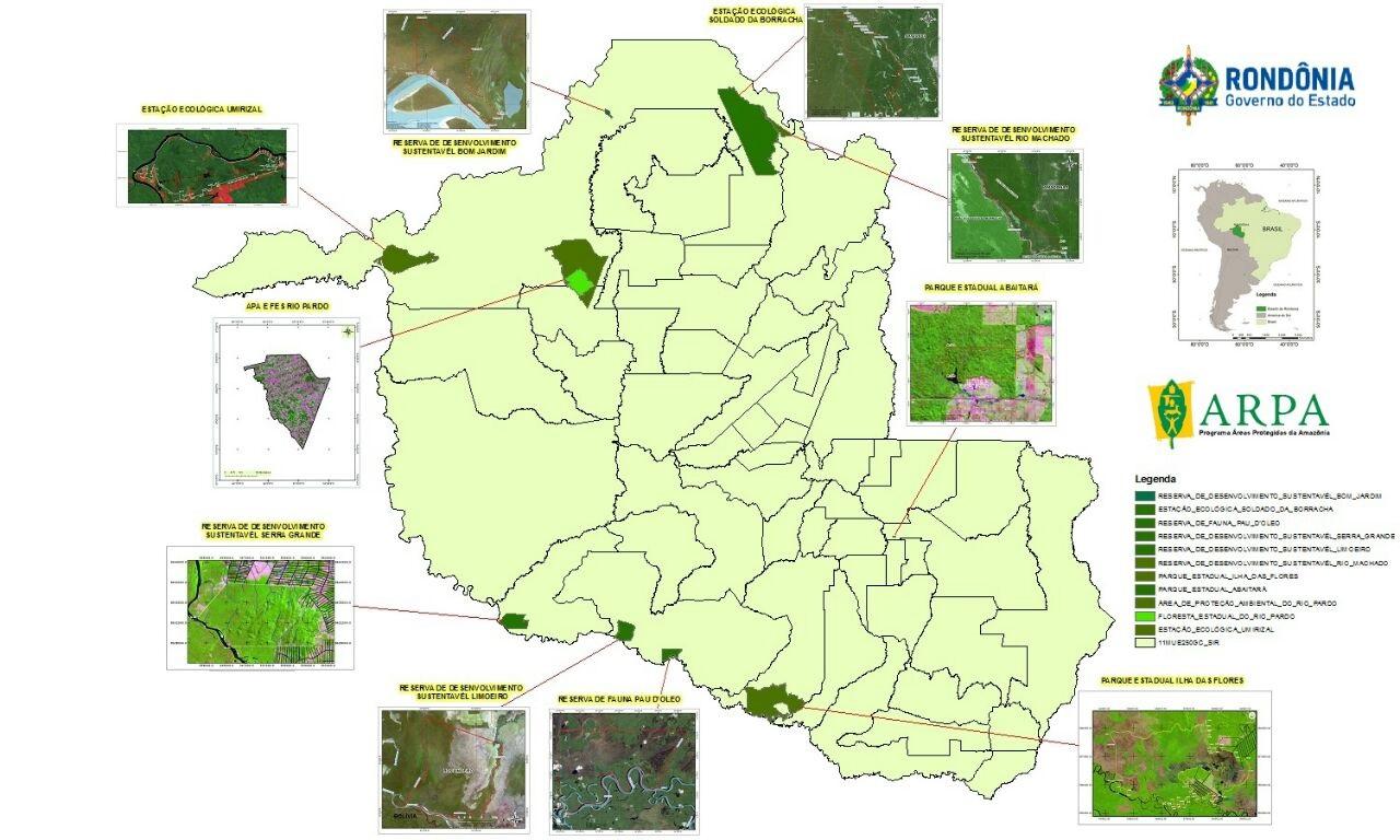 Resultado de imagem para rondonia arpa unidades de conservação